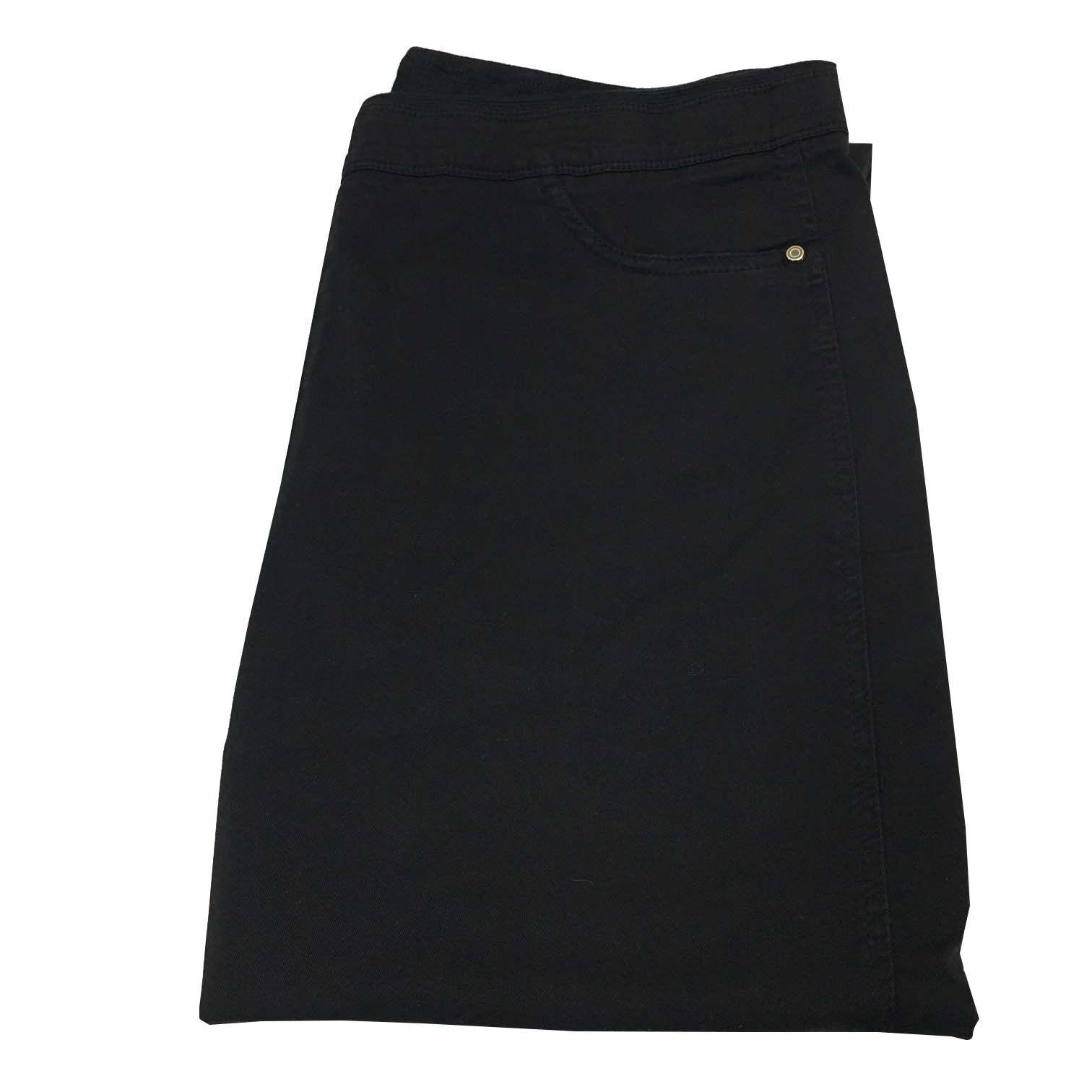 ELENA Mirò Damenhose schwarz elastisch im Leben 97% Baumwolle 3% Elasthan