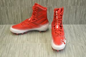 Under-Armour-Highlight-MC-3000177-601-Football-Cleats-Men-039-s-Size-8-5-Red-NEW