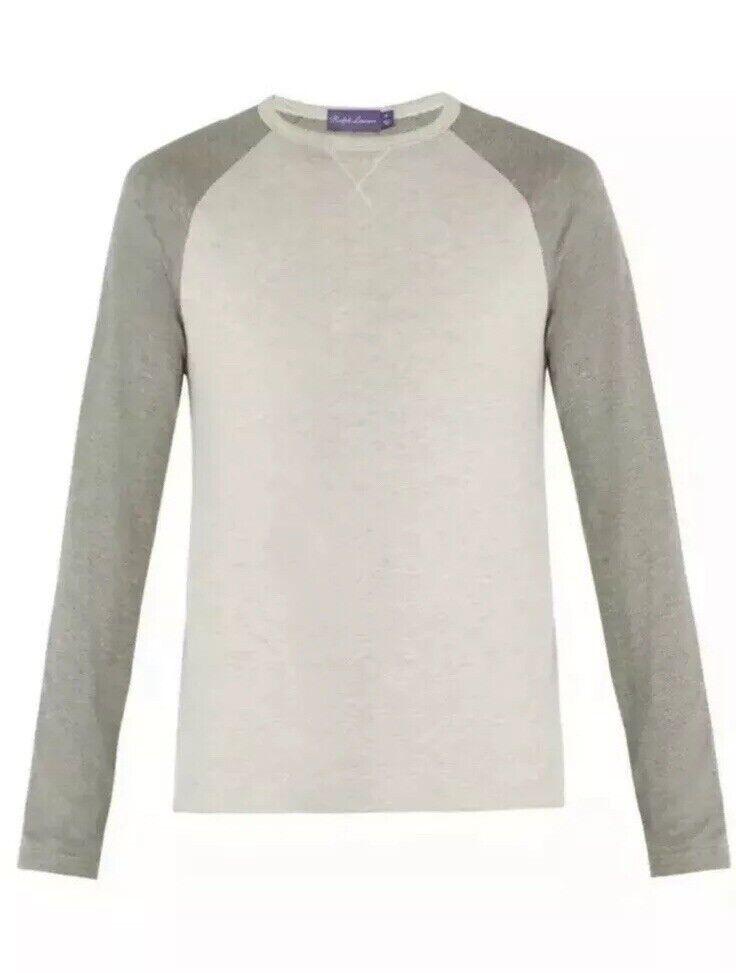 Ralph Lauren Purple Label Pima Cotton Modal Long T Shirt Light Sweater  395