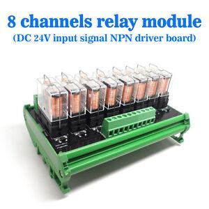 Omron-8-Relay-Module-Eight-Panels-Driver-Board-Socket-DC-24V-NPN