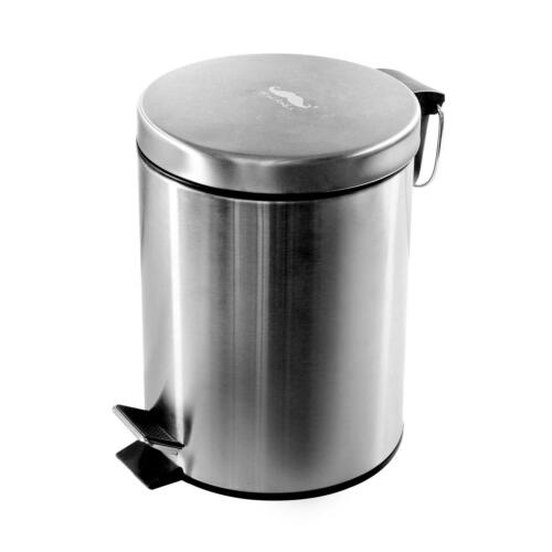20 x 27 cm Moustache® Stainless Steel Step Trash Can 5L