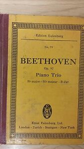 Avoir Un Esprit De Recherche Beethoven: Piano Trio: Opus 97: Musique-afficher Le Titre D'origine