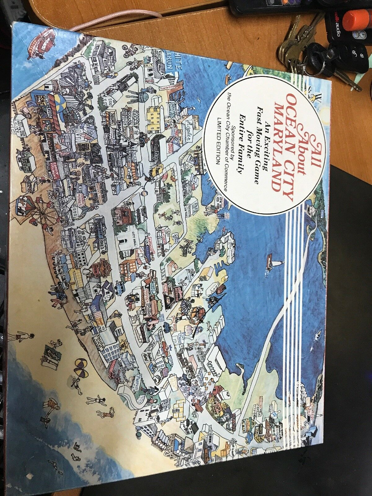 Rare 1982 Limited Edition All About Ocean City Maryland Board Game