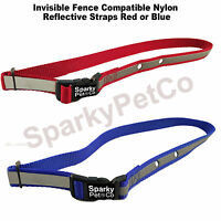 Sparky Petco Invisible Fence Compatible Nylon Reflective Straps Red Or Blue