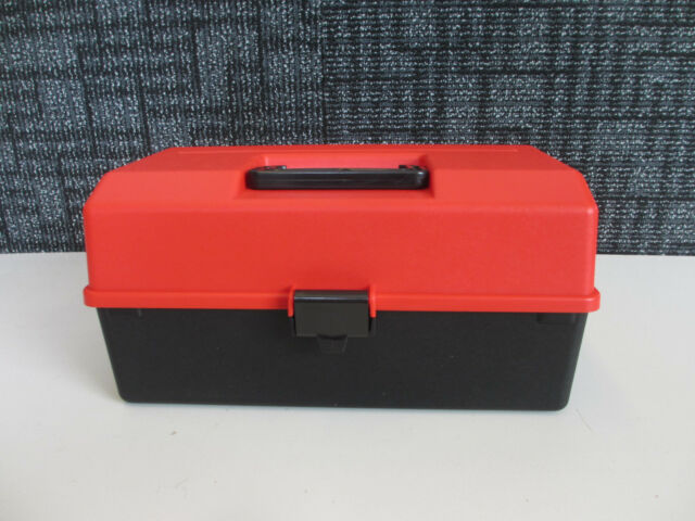 Fischer Plastics Tool/Sewing/Hobby/Safety/Fishing Box Small 1H-121 Red / Black