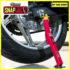SNAPJACK PORTABLE MOTORCYCLE JACK, LIFT. ideal for cleaning rim, oiling chain