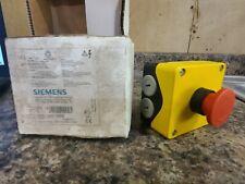 New Siemens 3sb 18 E Stop Emergency Button 3sb1 3zx1012 0sb10 2aa1 Yellow Red