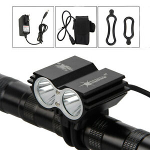 SolarStorm-8000LM-2x-XM-L-U2-LED-Bicicleta-Cabeza-Luz-Frontal-Faro-Linterna-Lamp