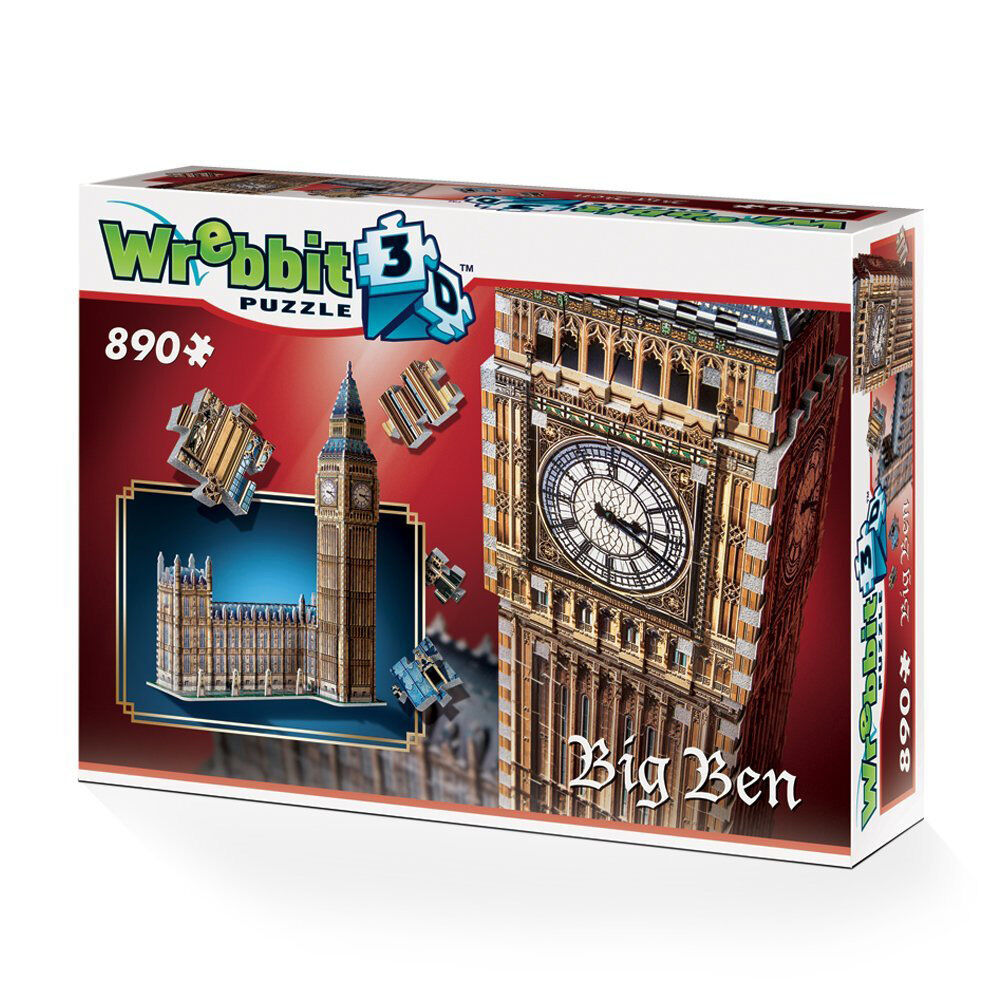 Wrebbit Big Ben & Houses of Parliament 3D  Model Jigsaw Puzzle (890 Pieces)