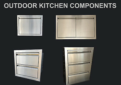 Outdoor Kitchen Bbq Island Components 304 Stainless Steel Access Door And Drawer Ebay