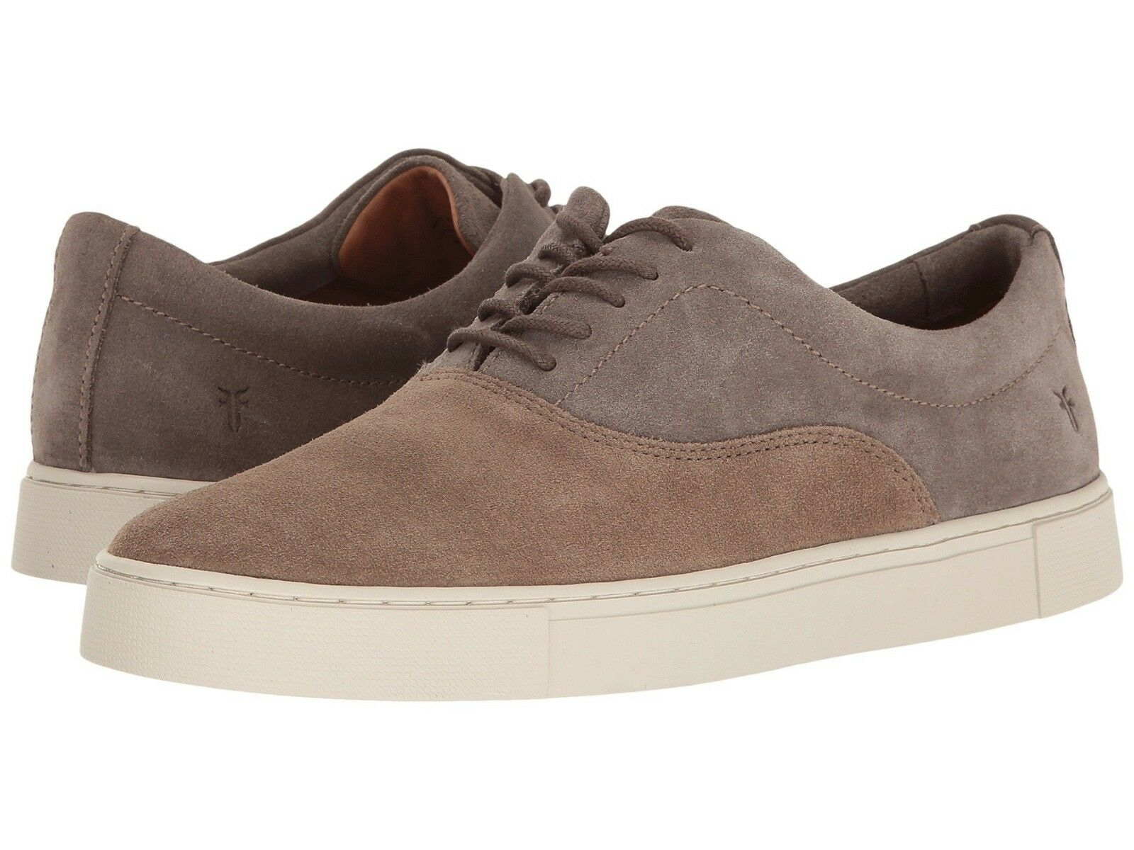 228 NIB NEW Men's Frye Gabe Bal Oxford Taupe Multi Suede Sneaker shoes
