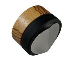 58.4 58 convex 58.6 bases Espresso Tamper Oak Tree Wood 50 51.5 54.5 58