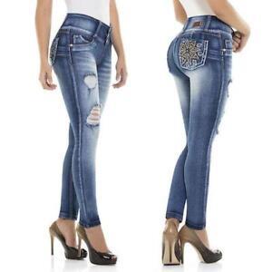 push Fit Slim Jeans up fibbia colombiano con Cysm elasticizzati fgUfn4wqS