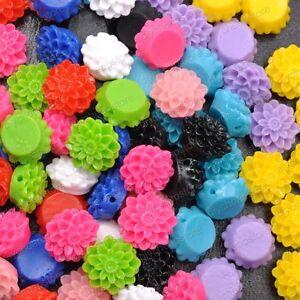 Wholesale-20pcs-Resin-Flower-Flatback-Cabochons-Charm-beads-13MM-15MM-10-Colors