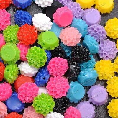 10 Colors Free Ship  Wholesale  20pcs Resin Flower Flatback Cabochons 17X8MM
