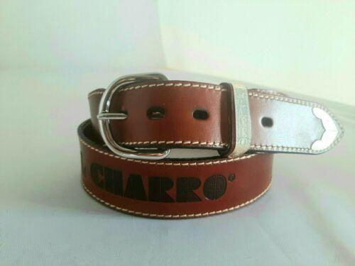 Cintura EL CHARRO VINTAGE E158 inserti in metallo e scritta a fuoco EL CHARRO