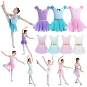 Girls-Gymnastics-Ballet-Dance-Dress-Toddler-Kids-Ballerina-Leotard-Tutu-Skirt