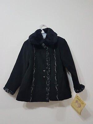 Abile Couche Tot Designer Bambina Inverno Cappotto Nero Nuovo Con Etichetta-partito Chiesa Ogni Occasione-mostra Il Titolo Originale