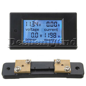 50A-LCD-Digital-Volt-Watt-Current-Power-Meter-Panel-Ammeter-Voltmeter-Shunt