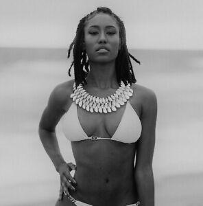 Cowrie-Shell-Necklace-Boho-Festival-Jewelry-Tribal-Choker-Black-Beads