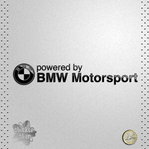 sticker bmw powered by bmw motorsport adhesive vinyl. Black Bedroom Furniture Sets. Home Design Ideas