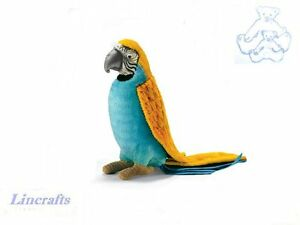 Yellow, Blue Parrot Plush Soft Toy Parakeet Bird by Hansa Sold by Lincrafts 3325