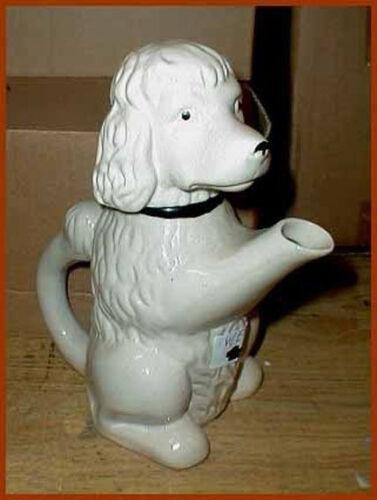 Porzellan Figur Kanne Figurenkanne Teekanne Sammelkanne Hund Pudel WEN12