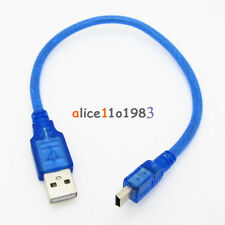 30cm Blue Short USB 2.0 A Male to Mini 5 Pin B Data Charging Cable Cord Adapter