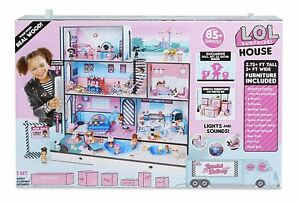 Surprises Wooden Multi Story Colorful Girls-NEW LOL Surprise Doll House With 85