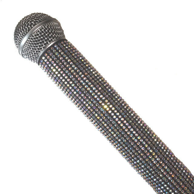 Crystal AB Bling Wireless and Hardwire Microphone Sleeves by Blingcons
