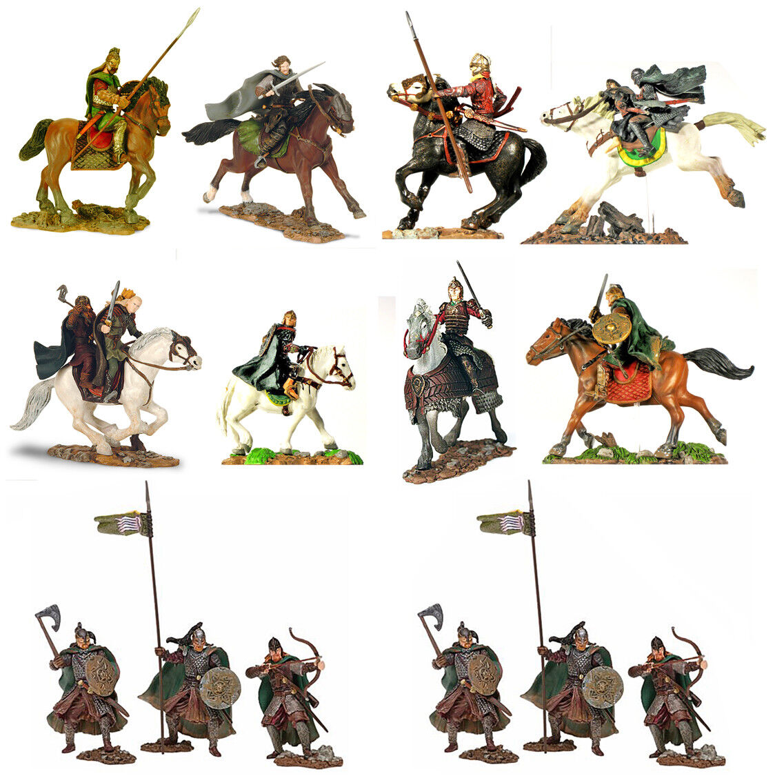 Play Along 'The Host of Rohan' - 54mm Lord of the Rings - 10 mint carded sets