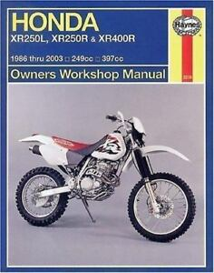 Details about 1986-2004 Honda XR250 XR400 R/L Haynes Repair Service on