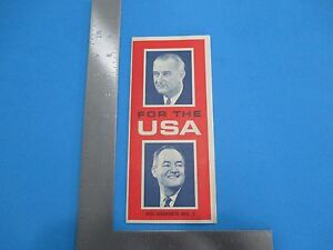 Vintage 1964 Lyndon Johnson and Hubert Humphrey Campaign Brochure S2528