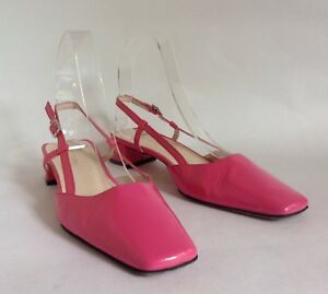 96677f80a02 Hobbs Hot Pink Patent Leather Slingback 1.5