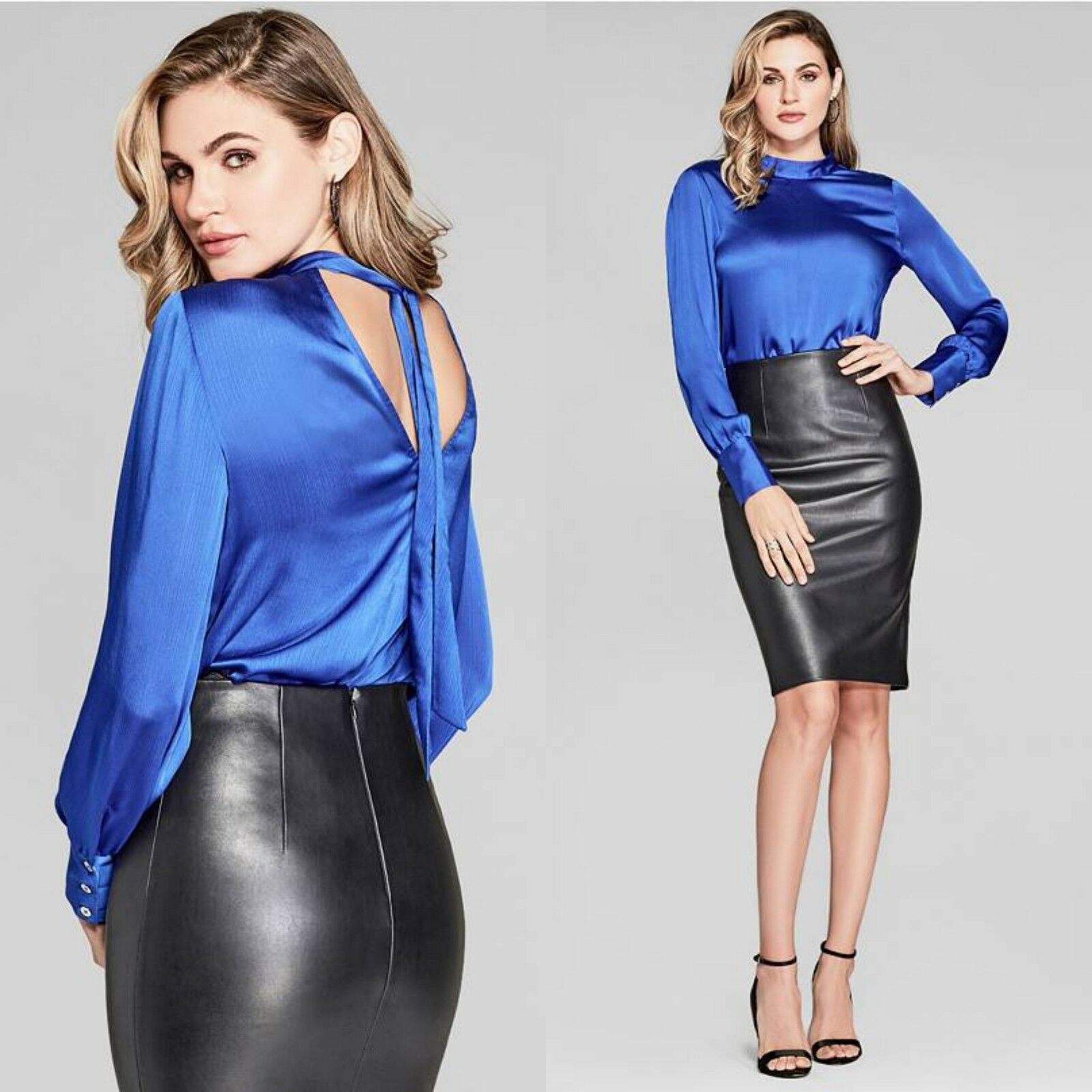 GUESS BY MARCIANO SHIRA LONG-SLEEVE TOP