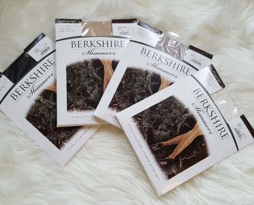 BERKSHIRE SHIMMERS Ultra Sheer Con Top Pantyhose BLACK CHAMPAGNE IVORY SILVER