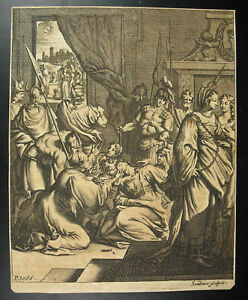 Agrippina-amp-Thusnelda-IN-Captivity-IN-Rome-Jj-Von-Sandrart-c1690-Germany-Xviie