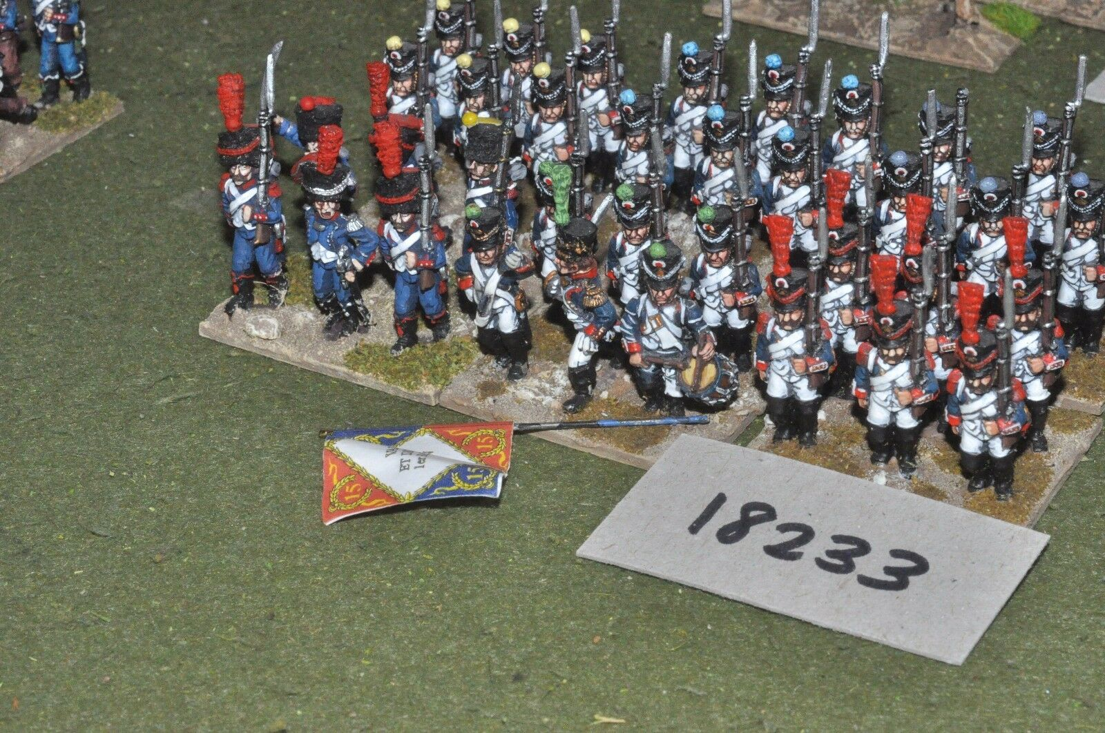 25mm napoleonic   french - infantry 36 figs - inf (18233)