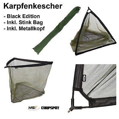 """42"""" Karpfenkescher + Tasche 107cm Bügelöffnung Landing Net Mit Black Metallblock Auswahlmaterialien"""
