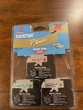Brother Me793 P Touch M Tape 3pack Black On Pink Green And Silver Brand New