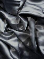 """100% mulberry silk charmeuse King Duvet Blanket cover 105x93"""" in Dark Gray grey"""