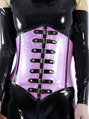 46fa12f7c2 100% Latex Rubber Gummi 0.8mm Corset Bustier Underbust Catsuit Suit Buckle