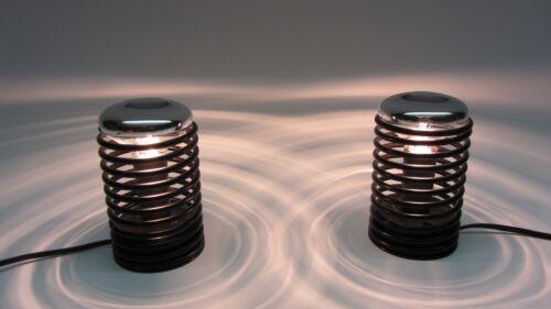 Paar Tischlampen Spiral Leuchte Wand Lampe  70er J mid century Lindner Brennstuh
