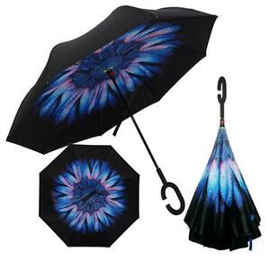 Folding-Umbrella-C-Shaped-Hands-free-Handle-Double-Layer-Inverted-Windproof