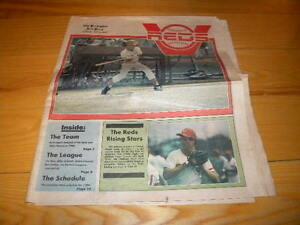 1984 Vermont Reds Eastern League Minor League Baseball Newspaper Preview