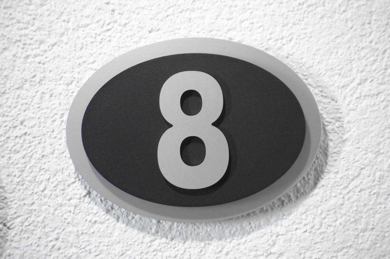 Hausnummer Design Galaxy Silber schwarz Zahl 1- 9 aus aus aus 10 Schriftarten zur Wahl   Einfach zu bedienen    Angemessener Preis    Züchtungen Eingeführt Werden Eine Nach Der Anderen  c00df5