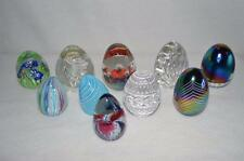 Decorative Egg LOT 10 Solid Glass Eggs Clear Colored Easter Spring
