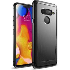 Poetic? LG V40 Slim Fit TPU Case [Karbon Shield] w/ Carbon Fiber Texture Black
