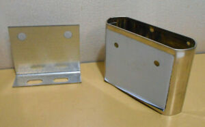 """Stainless Steel Bathroom Stall Pilaster Shoe 4/"""" Wide x 3/"""" Tall"""