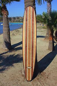7ft Wood Surfboard Longboard Wall Art Beach California